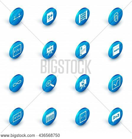 Set Test Or Exam Sheet, Abacus, Paper Clip, Function Mathematical Symbol, Infinity, Chalkboard, Book