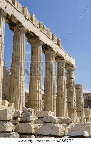 Athens Parthenon And Columns