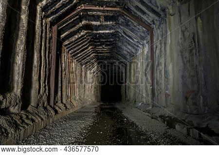 Donner Pass Summit Train Tunnel Built For The Transcontinental Railroad On The Route Where The First