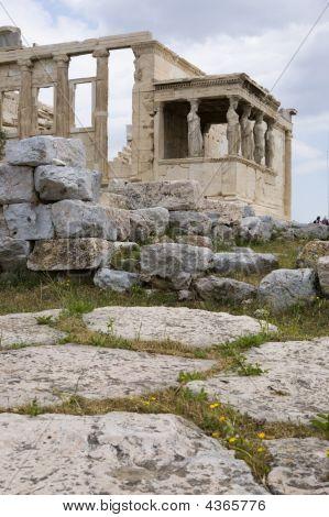 Athens Landmark Caryatids Of Erechteion