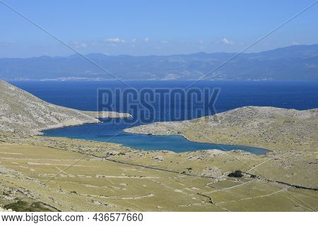 Bay Mala Luka On Island Krk, Croatia