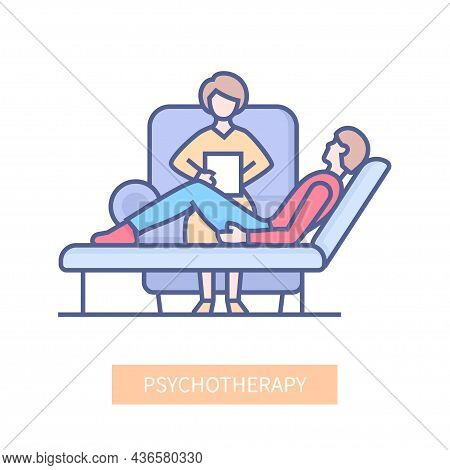 Psychotherapy - Modern Multicolor Line Design Style Icon