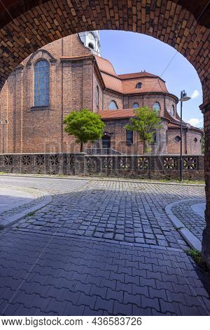 The Neo-baroque Church Of St. Anna In The Historic Mining Settlement Of Nikiszowiec, Katowice, Polan