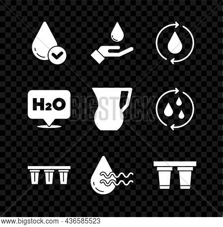 Set Water Drop, Washing Hands With Soap, Recycle Clean Aqua, Filter, Chemical Formula For H2o And Ju
