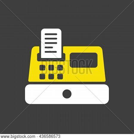 Cash Machine Glyph Icon. E-commerce Sign. Graph Symbol For Your Web Site Design, Logo, App, Ui. Vect