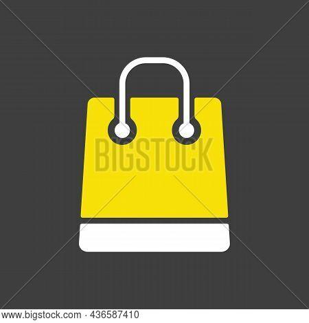 Shopping Bag Glyph Icon. E-commerce Sign. Graph Symbol For Your Web Site Design, Logo, App, Ui. Vect