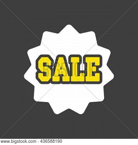 Sale Tag Glyph Icon. E-commerce Sign. Graph Symbol For Your Web Site Design, Logo, App, Ui. Vector I