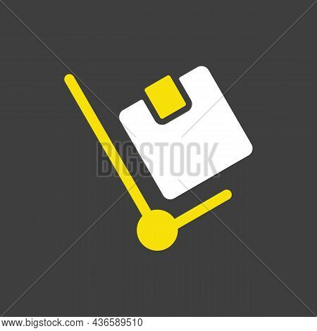 Hand Truck Glyph Icon. E-commerce Sign. Graph Symbol For Your Web Site Design, Logo, App, Ui. Vector