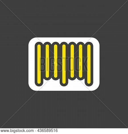 Barcode Glyph Icon. E-commerce Sign. Graph Symbol For Your Web Site Design, Logo, App, Ui. Vector Il