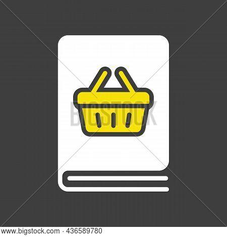 Catalog Product Vector Glyph Icon. E-commerce Sign. Graph Symbol For Your Web Site Design, Logo, App