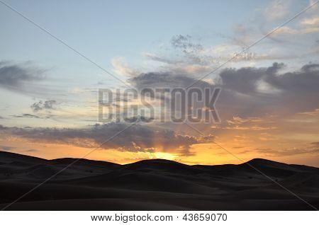 Sunset Over The Great Desert