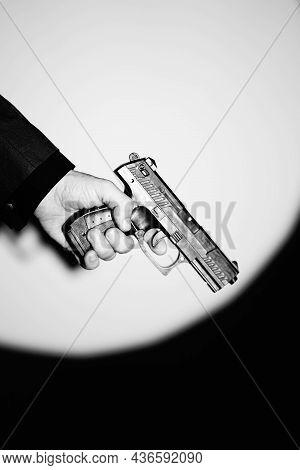 Pistol Gun Dark At Night