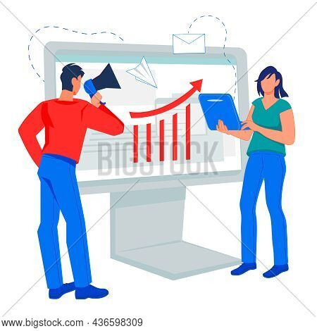 Company And Brand Promotion Team Developing Strategy Of Positioning Of Company In Social Network, Fl