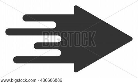 Quick Arrow Vector Icon. A Flat Illustration Design Of Quick Arrow Icon On A White Background.