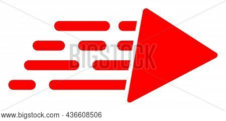 Speed Vector Illustration. A Flat Illustration Design Of Speed Icon On A White Background.