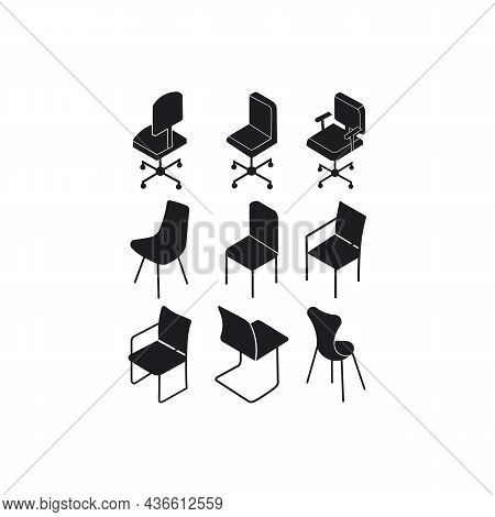 Office Chair Icon  Logo Flat ,office Chair Vector Icon Modern And Simple Flat Symbol