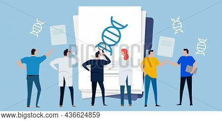 Scientist Researching Gene Editing Crispr-cas9 Technology Dna Molecular Biology