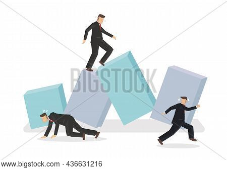 Economic Recession, Financial Crisis Or Stock Market Crash Concept With Worried Businessman Investor