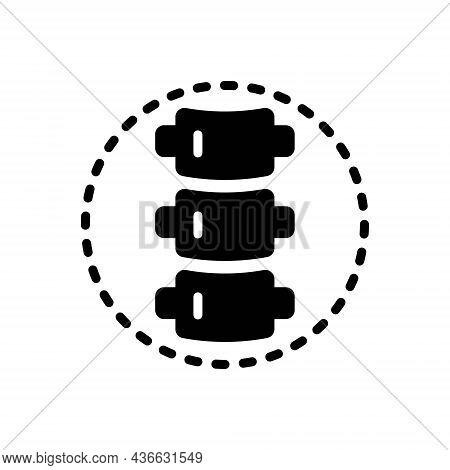 Black Solid Icon For Spine Backbone Spinal-column Vertebral-column Vertebrae Orthopedic