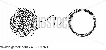 Chaos And Order Business Concept Flat Style Design Vector Illustration Isolated On White Background.