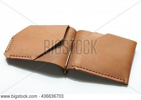 Slim Leather Open Card Wallet