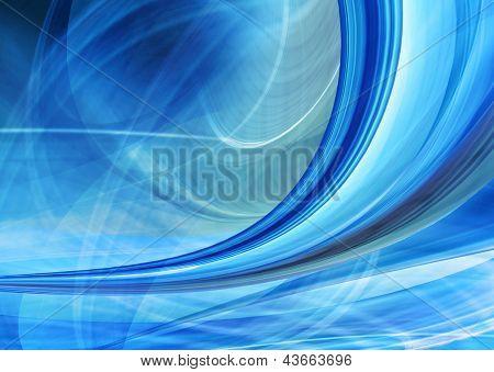 Abstrakte Geschwindigkeit Hintergrund blau gekrümmte Formen