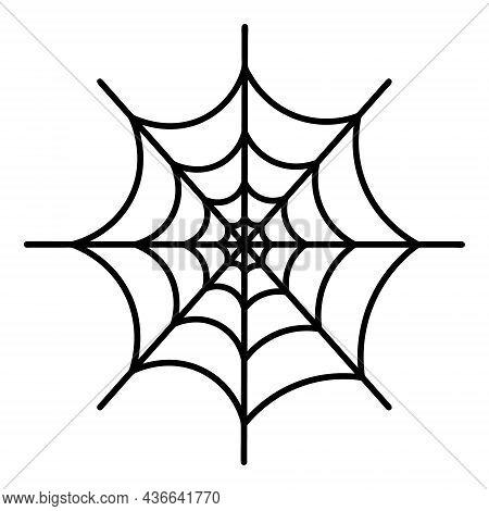 Spiderweb. Silhouette. Vector Illustration. A Sticky Victim Trap. Intricate Network. Hunter's Ambush