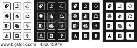 Set Refresh, Recycle Clean Aqua, Hands Holding Earth Globe, Head Electric Symbol, Plant Hand, Leaf P