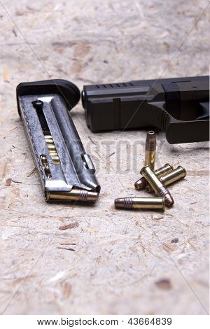 Magazine And Bullets.