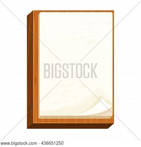 Checklist Empty On A Wooden Board Note Paper, To Do Work In Cartoon Style Isolated On White Backgrou