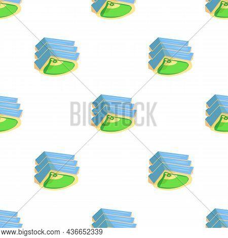 Baseball Stadium Pattern Seamless Background Texture Repeat Wallpaper Geometric Vector