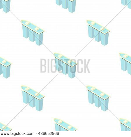 Marina Bay Sands Hotel In Singapore Pattern Seamless Background Texture Repeat Wallpaper Geometric V