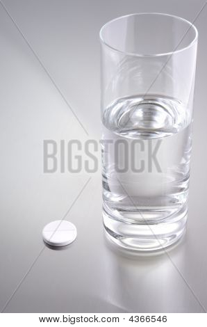 Glass Of Water And Aspirin