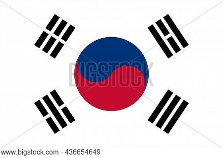 The Flag Of The South Korea Is An East Asian Nation On The Southern Half Of The Korean Peninsula
