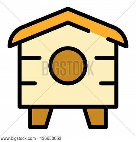 Ground Bird House Icon. Outline Ground Bird House Vector Icon Color Flat Isolated