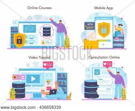 Data Base Administrator Online Service Or Platform Set. Manager