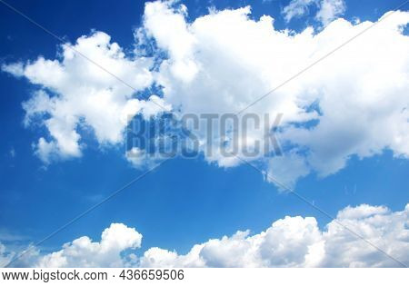 Scenic Shot Of Beautiful Cloudscape Against The Blue Sky