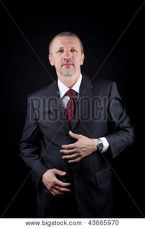 Tidy mature successful businessman