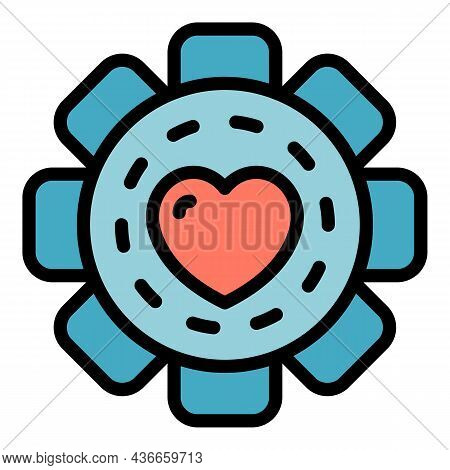 Friendship Flower Icon. Outline Friendship Flower Vector Icon Color Flat Isolated