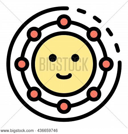 Friendship Smile Icon. Outline Friendship Smile Vector Icon Color Flat Isolated
