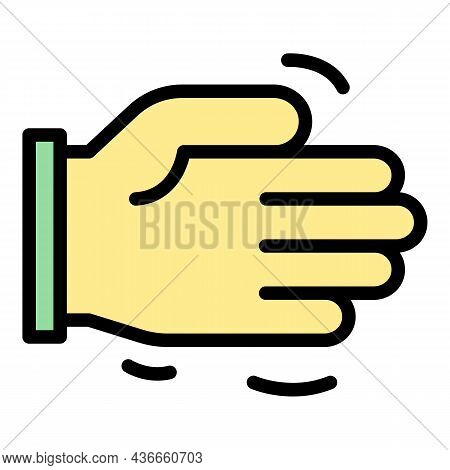 Friend Help Hand Icon. Outline Friend Help Hand Vector Icon Color Flat Isolated