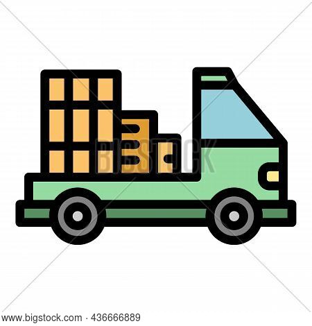 Adress Relocation Icon. Outline Adress Relocation Vector Icon Color Flat Isolated
