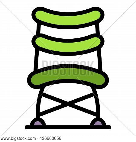 Office Compact Chair Icon. Outline Office Compact Chair Vector Icon Color Flat Isolated