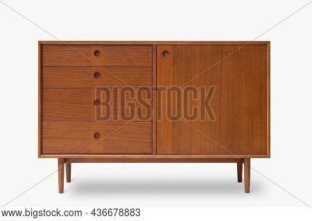 Vintage sideboard in mid century modern design