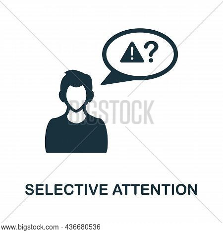Selective Attention Icon. Monochrome Sign From Cognitive Skills Collection. Creative Selective Atten