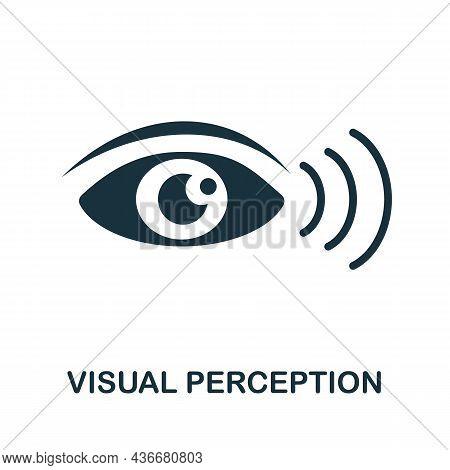 Visual Perception Icon. Monochrome Sign From Cognitive Skills Collection. Creative Visual Perception