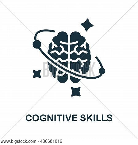 Cognitive Skills Icon. Monochrome Sign From Cognitive Skills Collection. Creative Cognitive Skills I