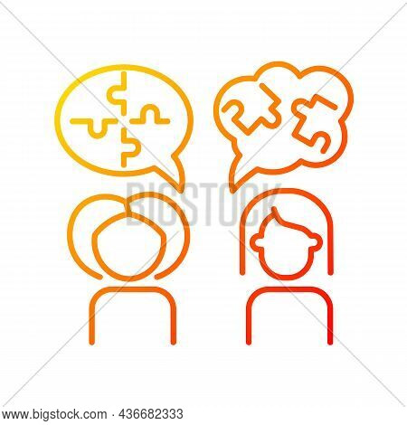 Psychotherapy Gradient Linear Vector Icon. Psychological Method. Psychotherapist. Cognitive Behavior