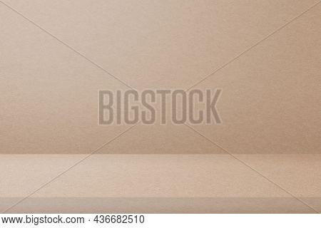 Beige product backdrop with blank space
