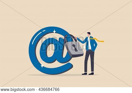 Email Security Protection, Safety System To Defend Cyber Attack, Spam Or Data Leak, Data Encryption
